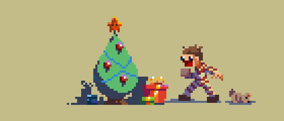 [OC] Pixel Dailies 26/365 : Christmas tree ...